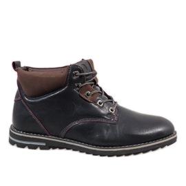Navy Dark blue insulated men's shoes 7006