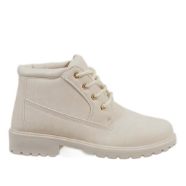 Brown Beige boots from W-3056 trappers