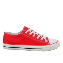 Red classic men's sneakers X-215