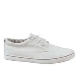 White classic men's sneakers BK-6005