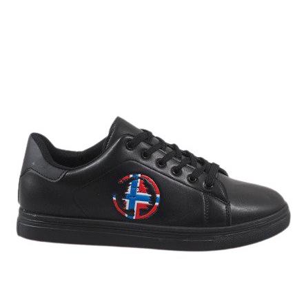 Black men's sneakers D20533