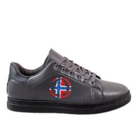 Gray men's sneakers D20533 grey