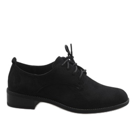 Black jazz shoes with suede shoes C-7183