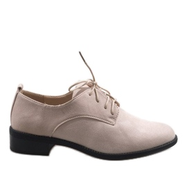 Brown Beige jazz shoes with suede shoes C-7183