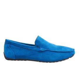 Dark blue elegant loafers shoes AB07-6
