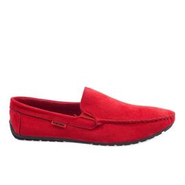 Red elegant loafers AB96K-2