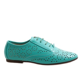 Mint openwork jazz shoes Oxford 3