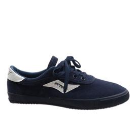 Navy blue men's sneakers HW01