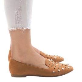 Brown Camel loin ballet shoes F3262