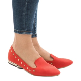 Red loafers for ZHC-980 ballerinas