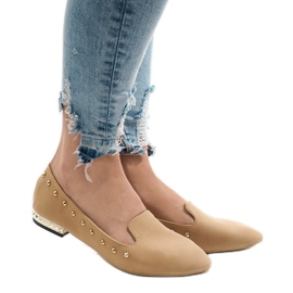 Brown Camel loafers for ZHC-980 ballerinas