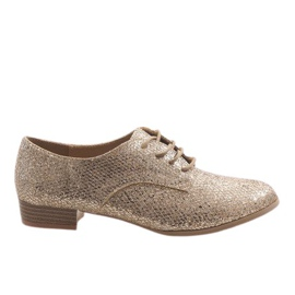 Yellow Golden lace shoes G086