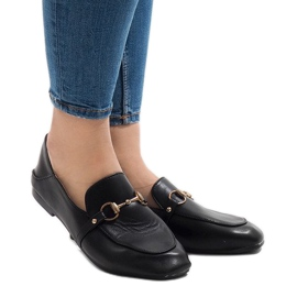 Black loafers for YJX001 ballerinas
