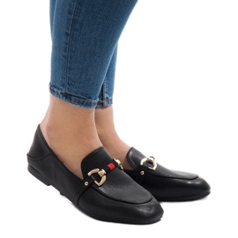 Black loafers for YJX005 ballerinas