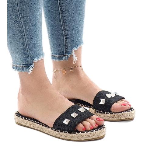 Black flip jeans studs 7087