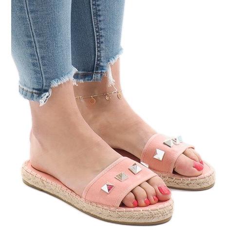 Pink flip jeans studs 7087