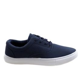 Navy blue men's sneakers QF-10