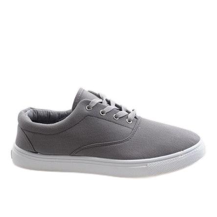 Gray men's sneakers QF-10 grey