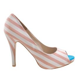 Pink heel shoes K011