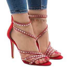 Red sandals on a pin 9081-9