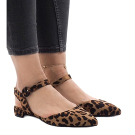 Leopard print sandals ballerinas 77-100