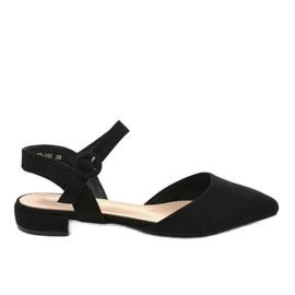 Black ballerina sandals 77-100