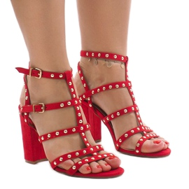 Red sandals on the post 168-163