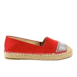 Red sneakers espadrilles on platform 180-6