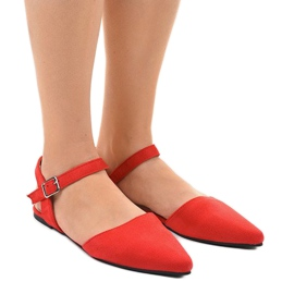 Red ballet shoes 235-4