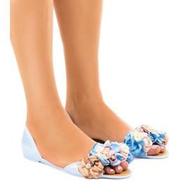 Blue meliski sandals with AE20 flowers