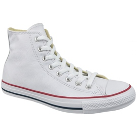 White Converse Chuck Taylor All Star Hi Leather At 132169C
