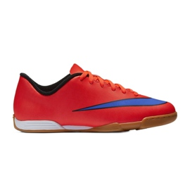 Football shoes Nike Mercurial Vortex Ii Ic Jr 651643-650 red red