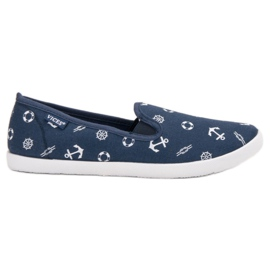 Blue VICES sailor slippers