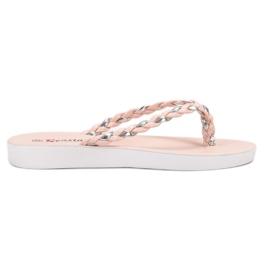 Seastar Pink Woven Flip-flops