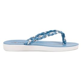 Seastar Blue Woven Flip-flops