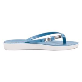 Seastar blue Flip-flops With Bow
