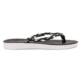 Seastar Black Braided Flip-flops