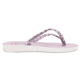 Seastar Violet Braided Flip-flops