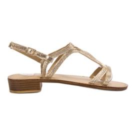 SHELOVET Sandals In Heels yellow