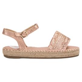 Small Swan Espadrilles Pink Sandals