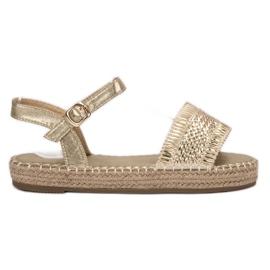 Small Swan yellow Golden Espadrilles Sandals