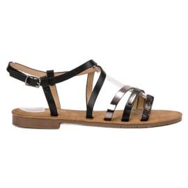 Erynn Casual Black Sandals