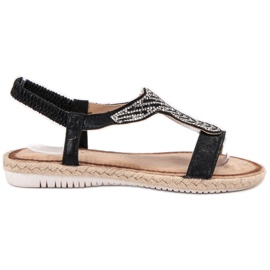 Emaks Slip Espadrilles sandals black