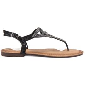 Queen Vivi black Flat Sandals Women
