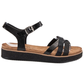 Bestelle black Sandals With a Brocade Sole