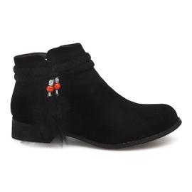 Suede Boots Jodhpur boots H1911 Black