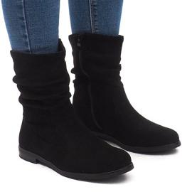 Insulated Boots Jodhpur boots L7355 Black