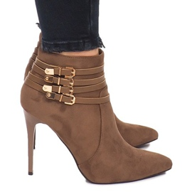Brown Boots On A Suede Suede YS20-1 Khaki