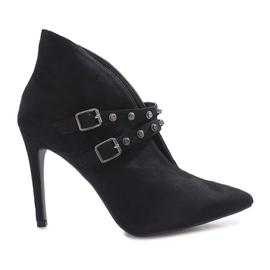 Black boots on a Karine heel