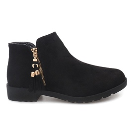 Suede Boots Jodhpur 8565 Black